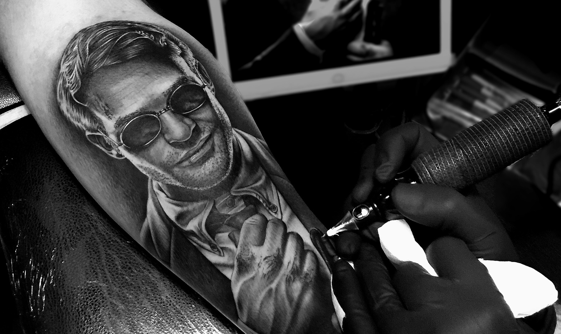 33ed58895 I'm a Tattoo Artist working from Black Friars Tattoo House in Carlisle,  England and I specialise mostly in black and grey realism tattoos.